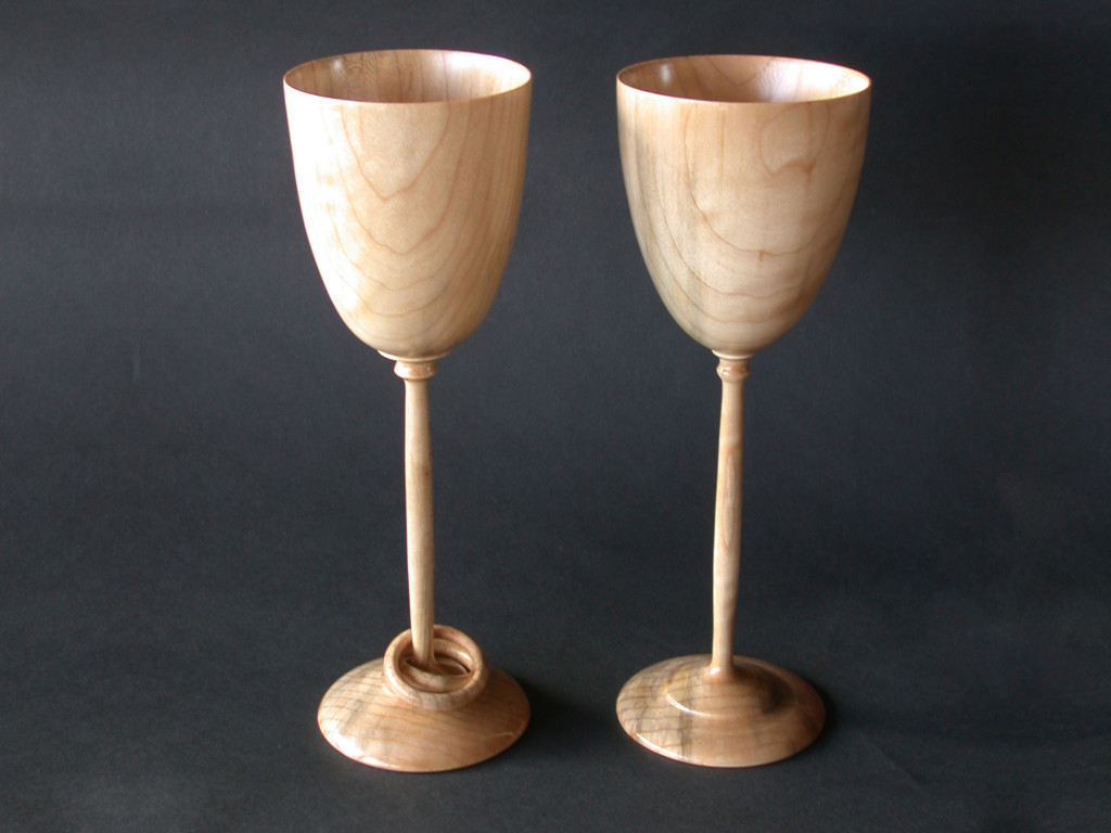 Turned Goblet Set