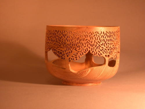 Turned and Pierced Bowl