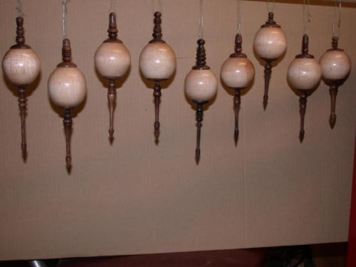 Turned Wood Ornaments